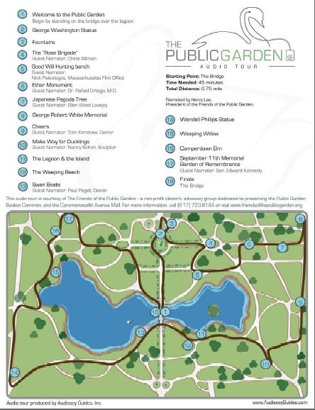 Boston garden map Boston public garden map