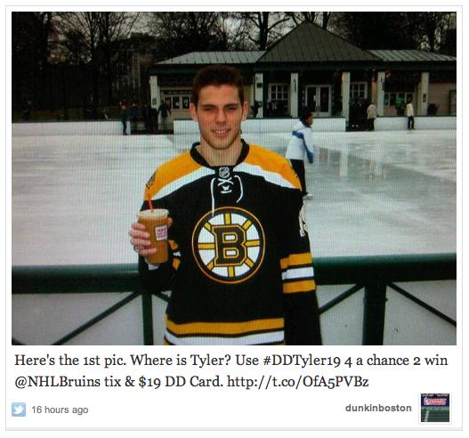 Tyler Seguin of the Bruins in the Boston Common Frog Pond