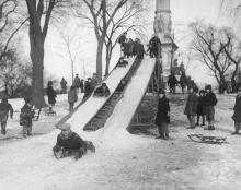 sledding boston common