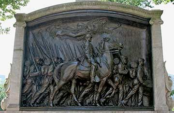 Shaw/54th Regiment Memorial across from State House