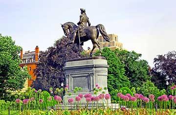Statue of George Washington in the Public Garden