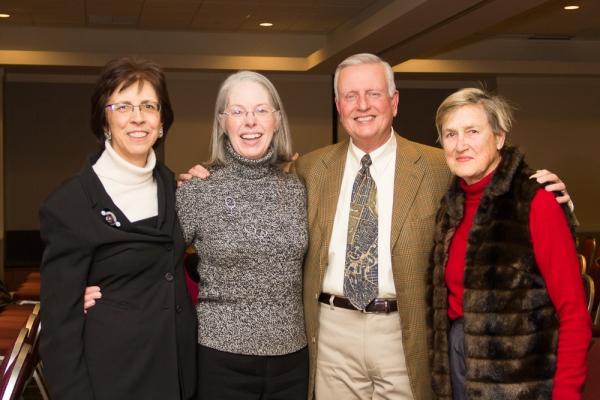 Friends of the Public Garden Executive Director Elizabeth Vizza, Liz Morgan, Boston University Professor Keith N. Morgan, and Bobby Moore